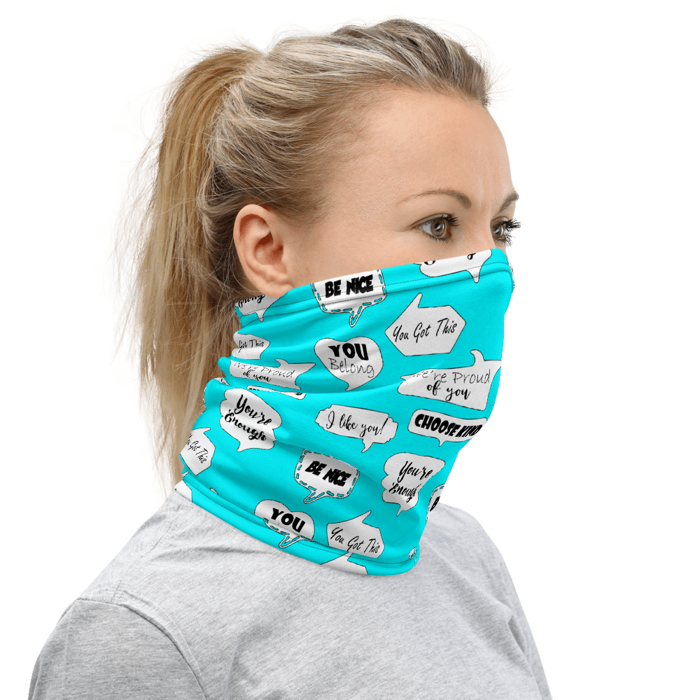 Positive Face Covering | School Counselors | Teachers | Psychologists | Face Mask | Paraeducators Neck Gaiter